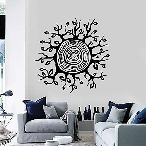 Tianpengyuanshuai fotobehang boom bladstomp cirkellaag natuurlijke hoofddecoratie slaapkamer vinyl sticker