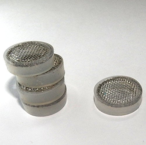 Stainless Steel Mesh Screen Filter for Iced Beverage Dispenser Replacement Spigot Easily Fits 16mm Threaded End to Filter or Strain Citrus Pulp 5 Pack Tea Leaves and other Particles