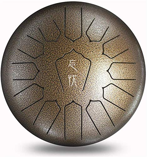 LLC- SUDA Happy Drums Steel, Happy Drums Steel 13 notas, 30 cm, para camping, yoga, meditación, terapia de música, bolsa de viaje acolchada, mazos, adhesivo tónico, fabricado en Estados Unidos