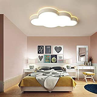 RUNNUP Lámpara de techo moderna Creative Cloud Flush Mount moderna con pantalla de acrílico LED Lámpara colgante Lámpara de araña Lámpara colgante con control remoto [regulable] -21.5 inch