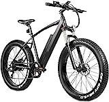 4.0 Fat Tire Bicicleta Eléctrica 26 Pulgadas 48V 500W Mountain Snow Bicicletas Eléctricas para Adultos Suspensión Amortiguador Horquilla Rebote Bloqueo 7 Velocidades Cambio De Marchas Sistema De Reca