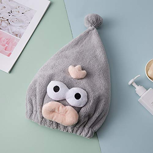 no brand SHUHUAN Cartoon Dry Hair Cap Hair Quick Dry Headcloth Cute Adult Thick Absorbent Shower Cap Wholesale