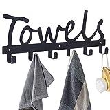 Towel Hooks Bathroom Towel Racks Towel Holder & Organizer Black...