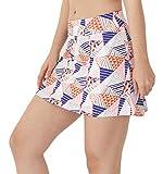 Westkun Donna Gonna da Tennis Minigonna Sport Skort con Pantaloni(Color Triangle,M)...