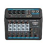 Consola De Mezclas Mezclador De Audio Digital Compacto Con Consola De Mezcla USB De 6 Canales Para...
