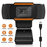 joupugi HD USB Webcam, Plug & Play Web Camera,Build in Microphone for Live Class Conference Vid…