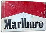 SRongmao Marlboro Blechschild mit Zigaretten, Tabakrauchen,
