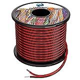 2x0.3 mm² Cable Alambres eléctrico de silicona de 2x30Metros 22awg Cable de cobre estañado trenzado sin oxígeno Resistencia a altas temperaturas 2 Conductor
