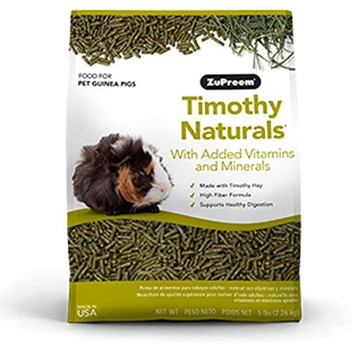 ZuPreem - Alimento Cobayas Timothy Naturals | Pienso en Pellets Cobaya - 2,25 kg