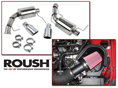 2011-2014 Mustang GT 5.0 Roush Cold Air Intake & Axle Back Muffler Exhaust Combo Kit