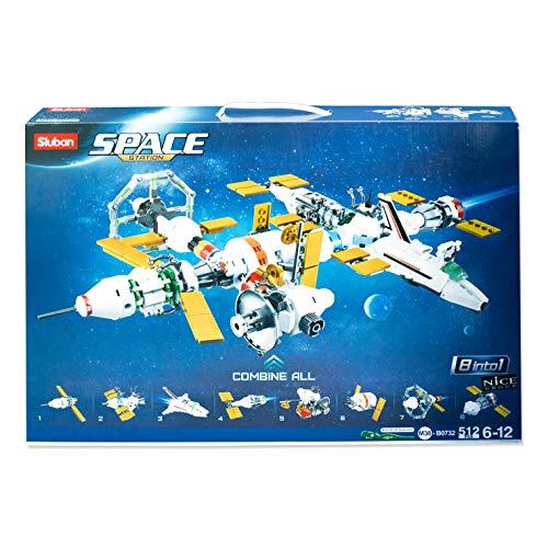 Nice Group M38-B0732 - Juego de 8 módulos para construcción Espacial (512 Piezas)