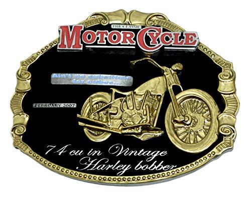 Harley Davidson riem gesp Vintage Harley Bobber zwart & goud ontwerp Authentieke Officieel gelicenseerde draak ontwerpen merkproduct