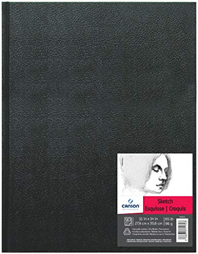 Canson 100510419 Artist Series Sketch Book Paper Pad, for Pencil and Charcoal, Acid Free, Hardbound, 65 Pound, 11 x 14 Inch, 90 Sheets