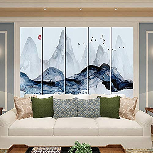 Sofá de la habitación Nuevo fondo chino Sala de estar de la pared Hotel Dormitorio de cabecera TV Sofá de pare papel pintado pared dormitorio de estar sala de estar fondo No tejido-400cm×280cm