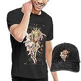QAZEDC Taurus Aldebaran - Camiseta para hombre, Negro, Large