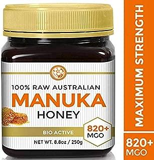 Raw Premium Manuka Honey Certified MGO 820+ Highest Grade Medicinal Strength Manuka - (See Lab Report) - 250g Jar by Good Natured