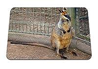 22cmx18cm マウスパッド (ワラビー沼動物園を発見) パターンカスタムの マウスパッド