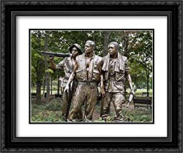 Vietnam Memorial Soldiers by Frederick Hart, Washington, D.C. 18x14 Black Ornate Frame and Double Matted Art Print by Highsmith, Carol