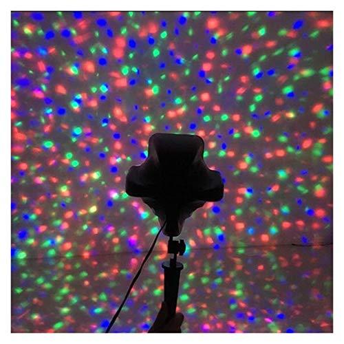 YCRCTC Distance Galaxie Star Projecteur Starry Sky scène d'éclairage Effet Salle de fêtes en Plein air Enfants Nuit Vacances lumières de Noël (Color : 1X Projector)
