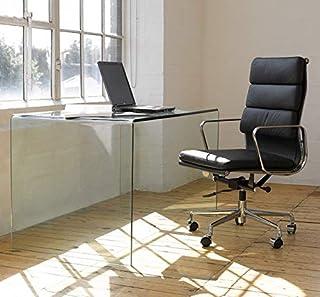 Grupo SDM Mesa Comedor o Escritorio Cristal Curvado Transparente 125 x 70 cms