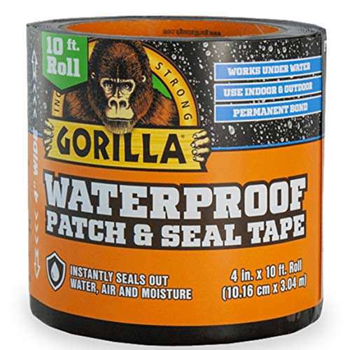 Gorilla Waterproof Patch & Seal Tape 4' x 10' Black, (Pack of 1)