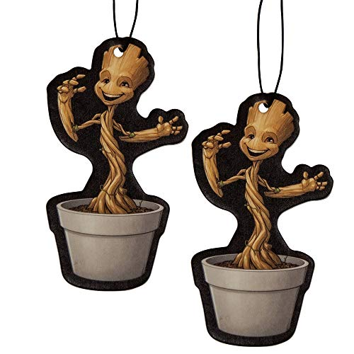 Plasticolor 005504R01 Marvel Groot Guardians of The Galaxy Car Air Freshener - 2 Pack