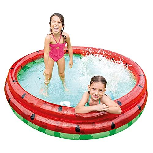 DRXX Piscina Inflable Familiar, Piscina Inflable de la sandía de la sandía, Caja Fuerte Fuerte de la Gran Capacidad de Mayor Capacidad de la Piscina Adecuada para niños de 0 a 8 años