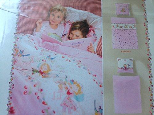 Kinder Bettwäsche Prinzessin Lillifee Bezug 135x200cm Kissen 80x80cm 100%Baumwolle mit Reißverschluss