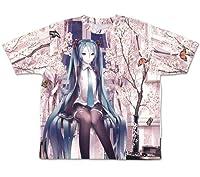 初音ミク cherry blossoms 両面フルグラフィックTシャツ XLサイズ