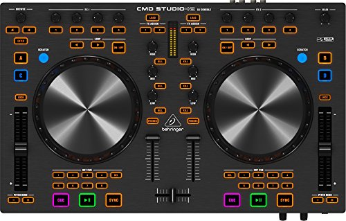 Review Behringer CMD Studio 4a 4-Deck DJ MIDI Controller with 4-Channel Audio Interface