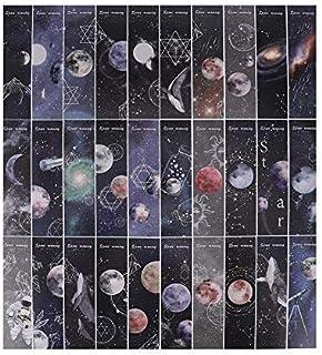 oAuLrX しおり 紙製 ブックマーク メッセージカード おしゃれ 幻想的 宇宙 天体 星 クジラ パターン ワードカード パターンが全部異なる しおり 60枚 セット