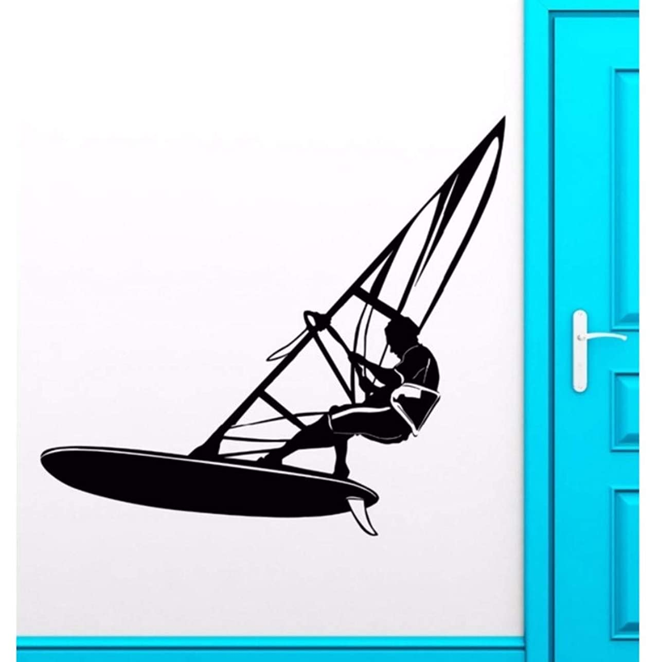 検証天国気づかないWxmca ウォールステッカービニールデカールウィンドサーフィンエクストリームスポーツウォータークールデコレーション50×57センチ