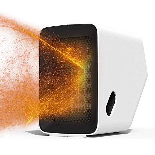 TQMB-A Heater 500W Schnell Heizung, Wärme gleichmäßig, Haushaltsklein Heizradiator Mute Energiespar Schlafzimmer-Büro-Schreibtisch Schreibtisch,Weiß