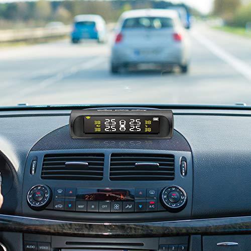 Nopnog Monitor de presión de neumáticos con sensor externo y pantalla LCD digital, energía solar