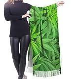 Marihuana Cannabis Macetero Plantas Chal Envoltura Invierno Bufanda Caliente Cape Bufanda Grande Bufanda De Gran Tamaño Bufandas Para Las Mujeres
