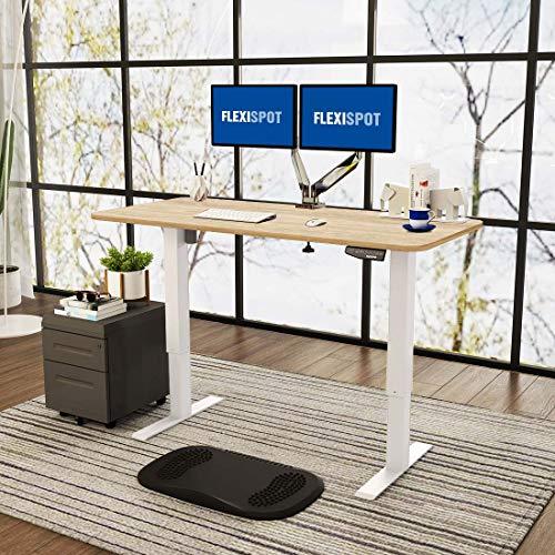 Flexispot E1 Elektrisch Höhenverstellbarer Schreibtisch mit Tischplatte 2-Fach-Teleskop, mit Memory-Steuerung (Weiß+Ahorn)