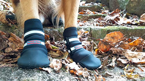 Bark Brite All Weather Neoprene Paw Protector Dog Boots in 5 Sizes! (XL (4.0 in.)) Travel Zipper Case Included!