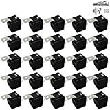25 Pack 40/30 AMP 5 Pin SPDT 12 V DC Bosch Style Relay Switch for Electrical Automotive Truck Marine Boat (No Relay Socket and Wiring Harness)