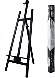 Mont Marte Rear Support Easel. Floor A-Frame Wooden Easel Constructed from Quality Pine Wood. Holds Canvases Up to 48in (122cm) in Height. Folds Easily for Storage.