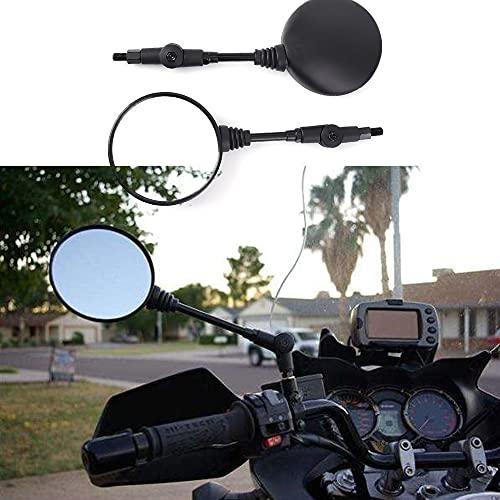 MNWYMCMFSpecchietto retrovisore Universale Motocross Specchietto retrovisore Specchietti Moto Pieghevoli ATV UTV E-Bike Retro Moto,Solo per Accessori da 8mm/10mmSpecchio