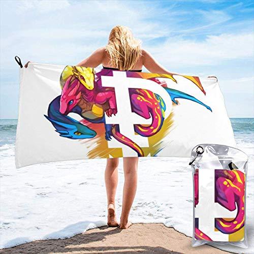 dingjiakemao Toallas De Baño Gay Pride Dragon Beach Toallas Absorbentes De Secado Rápido para Acampar, Mochilero, Gimnasio, Deportes Y Natación 160 X 80 Cm