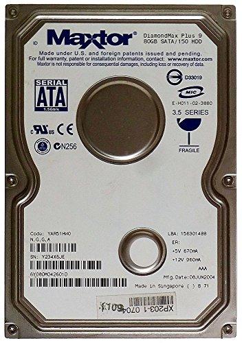 80GB HDD Hard Disk Drive Maxtor DiamondMax Plus 9 6Y080M0 SATA ID13580