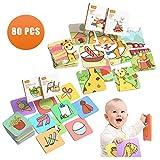 Tumama Tarjetas de Arte Baby,Flash CardsTarjetas de Alto Contraste Tarjetas Juguetes para...