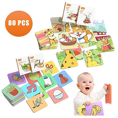 TUMAMA Baby Flash Karten Spielzeug,Baby Lernkarten Spielzeug für Kleinkinder, Frühe pädagogische Flash Cards Spielzeug für Säuglinge Neugeborene 12–36 Monate