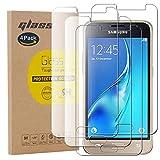 pinlu [4 Pack Protector de Pantalla de Cristal para Samsung Galaxy J1 Mini 2016 Protector Cristal Vidrio Templado [9H/2.5D/0.26mm, 99% TransPrincipale]
