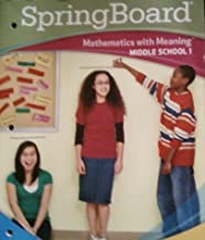 Mathematics with Meaning (Middle School 1, Level 1)