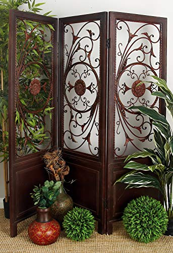 Deco 79 Wood Metal 3-Panel Screen Ultimate in Its Category