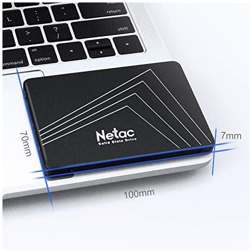 """Netac SSD 128GB, Disco Duro Estado sólido Interna, 3D NAND Flash Unidad, 2.5"""" SATAIII 6Gb/s, hasta 510MB / s con caché SLC para Notebook, Tableta, computadora de Escritorio y PC 5"""