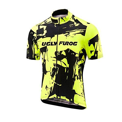 Uglyfrog Rennrad Radtrikot Kurzarm Herren Atmungsaktiv Fahrrad Trikot Full Reißverschluss Schnell Trocken Radsport MTB kurzarmtrikot Sports Jersey Triathlon Clothing DHJSX02