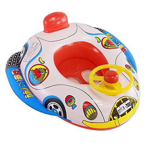 MMI-LX LYRONG - Asiento inflable para bebé con volante inflable avanzado para piscina infantil (color: como se muestra)